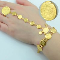 arab jewelry - Gold Coin Bracelet for Women Arab Chain Middle Eastern Gift Ancient Coins Jewelry Africa Indian Wedding Item Popular