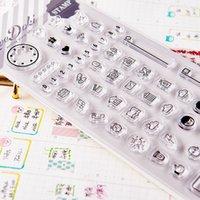 Wholesale Dokibook new homemade DIY transparent stamp seal scrapbook planner agenda diary DIY spare parts Creative cute