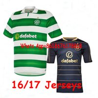Wholesale DHL Mixed Top Thai quality Scottish Celtic soccer Jerseys MULGREW LUSTIG UIRGIL BITTON BROWN home away rugby football shirts