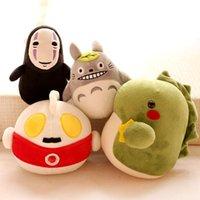 al por mayor almohadilla del bebé totoro-13-18 CM 2016 nueva llegada de peluche de bambú de dibujos animados totoro OutMan juguetes de felpa juguetes de bebé almohada muñeca de tela