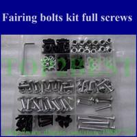 Wholesale Professional Motorcycle Fairing screws bolt kit for KAWASAKI ZX6R ZX R black aftermarket fairings bolts screw