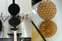 Wholesale free ship new arrive electric waffle machine eggette maker v V Non stick egg puff easy operation egg puff waffle maker