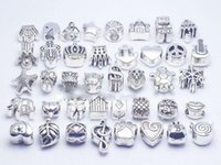 Wholesale 925 silver DIY Beaded Jewelry Accessories Alloy Big Hole Loose Beads Handmade Bracelet Necklace