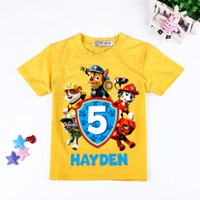 Wholesale Kids T shirts Cartoon Dog PAW clothes Toddler Boys patrol Short sleeve T shirts Tops Children shirts Baby Kids Summer Clothes