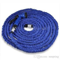 expandable hose - 100FT Expandable Flexible Garden Water Pocket Hose With Spray Good Nozzle Head opp bag Free by DHL