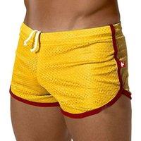 Cheap 1PCS Sexy Men See Through Men Shorts Slip Sport Boxer Breathable Shorts Men Summer Sports Beach Shorts Wear FX15