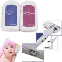 Wholesale FDA CE Proved Pocket Pregnant Fetal Doppler Baby Sound A Free Gel Baby Heart Monitor Ultrasound Detector Fetal