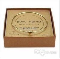 Wholesale fashion brief sweet gold thin heart bangle for girls Lucky women men bracelet