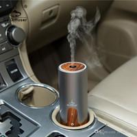 mini usb ultrasonic humidifier - 6pcs Mini ml Car Air Humidifier Difusor De Aroma Diffuser USB Ultrasonic Humidifier Essential Oil Diffuser Mist Maker Fogger