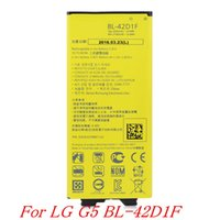 Wholesale New High quality battery For LG G5 Battery Replacement Battery BL D1F For LG G5 H868 H860 BL42D1F mAh Not Original With Retail Package