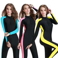 Natation One Piece Wetsuit Femmes Snorkeling Surfing Rash Guard Swimwear Femmes UPF50 Quick Dry Maillot de bain de plongée Vêtements