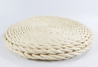 antique wicker - White rustic floor cushion straw floor pouf throw pillow kid s gift Pouf ottoman Yoga meditation cushion IKEA wedding gift meditation mat