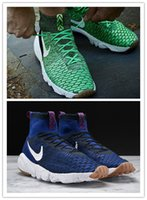 air puppet - man Air Footscape Magista Flyknit Deep Royal Blue Dark Poison Green quality without box