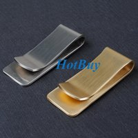 Wholesale 2 Colors x20x1 mm Portable Stainless Steel Money Clip Cash Clamp Holder For Pocket Metal Fashion Money Clips Wallet Purse