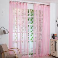 Wholesale 4 Color Solid Window Screens x100cm Curtain Sheer Organdy For Door Window Screen Curtain