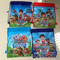 Wholesale Puppy Dog Cartoon Backpacks Kids Non Woven Drawstring Backpacks JJ Creeper Star Wars Children Shoulders School Bags Shopping Bags