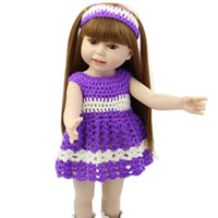 american kids collection - 18 Inches NPK Collection American Girl Full Vinyl Reborn Baby Dolls Beautiful Girl Dolls Kids Birthday Gifts