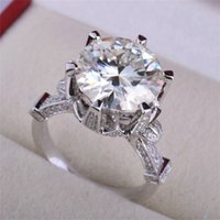 Wholesale 2016 New Luxury Big AAA Zircon Wedding Rings for Women Fashion Jewelry Anniversary Gift CZ Round Knuckle Ring Size JZ272