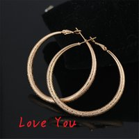 Wholesale Fashion Hoop Earrings Brief Gold Plated Round Huggie Earrings for Women Party Earrings Vintage Jewelry brinco grande boucle d oreille