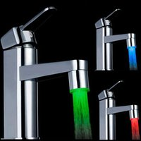 Wholesale Glow LED Water Faucet Shower Light kitchen Tap Temperature Sensor Colorful