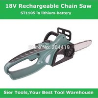Wholesale Garden Power Tools V electric chain saw ST1105 cordless chain saw Sier rechargeable tree saw electric chainsaw portable saw