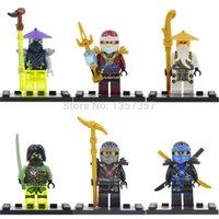 Wholesale Single Sale Dargo Florescent Ninja Minifigures Jay Cole WU Super Heroes Building Blocks Sets Model Toys Figures For Children