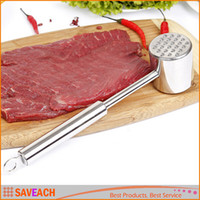 beef retail - Exquisite Simple Meat Mallet Tenderizer Steak Beef Chicken hammer Kitchen Tool Stainless steel Metal Useful and Easy With Retail box