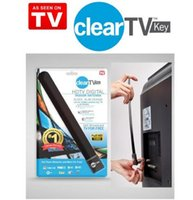 Wholesale Clear Tv key HDTV digital indoor antenna sleek slim design hidden behind TV Get broadcast tv for free