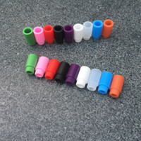 assorted rainbow - Disposable Silicone Mouthpiece Drip Tips For E Cigs Assorted Acrylic Rainbow Cartridges Cover Caps Tip For Atlantis Subtank Mini Nano