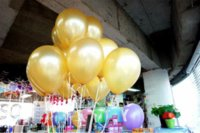 Wholesale Free Ship pc Inch1 g Gold Balloon Event Birthday Party Supplies Wedding Decoration Balloons