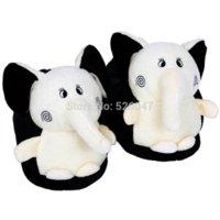 Wholesale Plush USB Foot Warmer Shoes Soft Electric Heating Slipper Cute Elephant Chopper Many colors