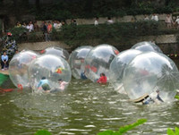 Wholesale 2m mm inflatable large Ball Zorb Ball Water Walking Balls Dancing Ball Sports Ball walk on water with zipper PVC water toy