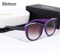 arrow shops - High Quality Shop Counters Cat eye Sunglasses Women Brand Designer Luxury Arrow Artificial Crystal PC Lens Glasses Womens