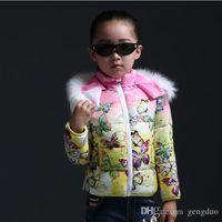 Wholesale Parkas girl clothing kids clothes winter child outerwear coats girls jackets children Outwear princess down wadded jacket vestido