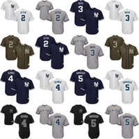 Wholesale Youth New York Yankees Derek Jeter Babe Ruth Gehrig Joe DiMaggio Cool Base kids Baseball Jersey stitched