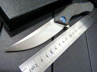 Wholesale Shirogorov poluchetkiy Wild boar TC4 Titanium D2 camp hunt outdoors Survival Flipper Tactical Folding Pocket Knife bearing Tools MMMM