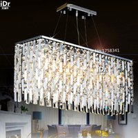 atmospheric art - rectangular living room lighting lamps crystal lamps k9led atmospheric restaurant ceiling lights High end European style Hall lamp