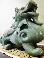 Wholesale Brave Troops Tea Pet Decoration Ru Kiln Ceramic Crafts Half Handmade Crackle Glaze Tea Set Ornament Porcelain High Quality