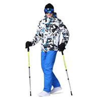 Wholesale 2016 Wild Snow Cheap Ski Suit Men Winter Set Mountain Skiing Cotton Padded Snow Jacket Men Brand Skiing And Snowboarding Clothes
