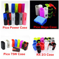 Wholesale Eleaf iStick Pico W Kit iStick Pico Mega Power RX Protective Case Fit istick Pico E Cigarette Rubber Sleeve Protective Silicone Case