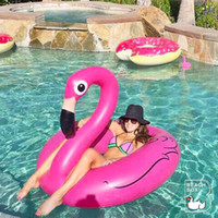 pink flamingos - Pink Flamingo Pool Float Inflatable Swan Swimming Ring Floating Bed Lounge Chair for kids and adult