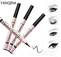 Wholesale YANQINA Twinking Liquid EyeLiner Pen eye pencil Waterproof eye liner Long Lasting Black hours Makeup Cosmetics High Quality