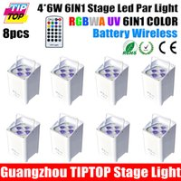 aluminum can factory - TIPTOP Factory Direct Sales X6W High Power RGBWA UV IN1 Battery Wireless Freedom Aluminum DMX Led Par Cans Truss Light CE ROHS