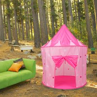 Wholesale Pink Little Princess Tent Princess Castle Play Tent For Girls New x105cm Hot Selling