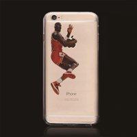 basket ball stars - Soft Transparent clear tpu gel case Basket ball sport stars back cover for Iphone s plus se G