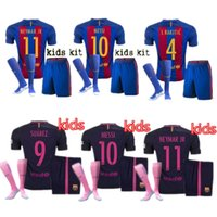 barcelona jersey xxl - 201 Kids Top thai Barcelona jerseys shorts socks MESSI ARDA A INIESTA SUAREZ SERGIO PIQUE I RAKITIC NEYMAR JR soccer jersey