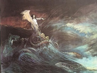 art witch - quot Conan Sea Witch quot by Frank Frazetta genuine Hand Painted Classic Famous Fantasy Fine Art Oil Painting On Canvas any customized size accepted