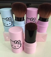 appliance covers - 2016 Hello Kitty Make Up Cosmetic Brush Kit Makeup Brush Makeup Tool Makeup Single Brushes Colors With Cover Toiletry Beauty Appliances