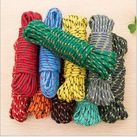 Wholesale 2016 New Outdoor Travel Most Useful Multifunction Strong Ropes Clothesline Climbing Hiking Mountain Camping Nylon Rope M