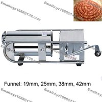 Wholesale Heavy Duty Stainless Steel Manual Hand Crank Horizontal Restaurant Home Sausage Stuffer Filler Funnel Tube